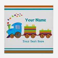 Custom Kids Train Tile Coaster