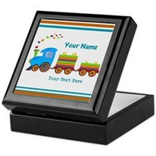 Custom Kids Train Keepsake Box