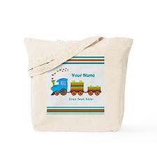 Custom Kids Train Tote Bag