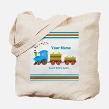 Custom Kids Train Tote Bag