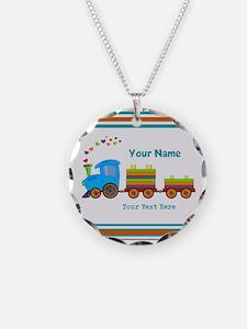 Custom Kids Train Necklace