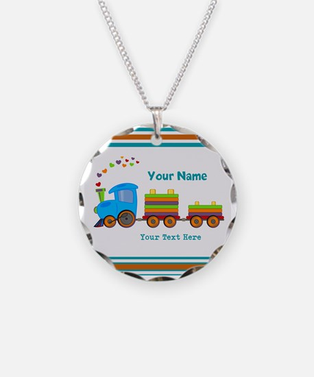 Custom Kids Train Necklace