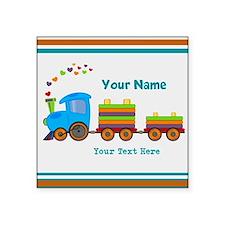"Custom Kids Train Square Sticker 3"" x 3"""