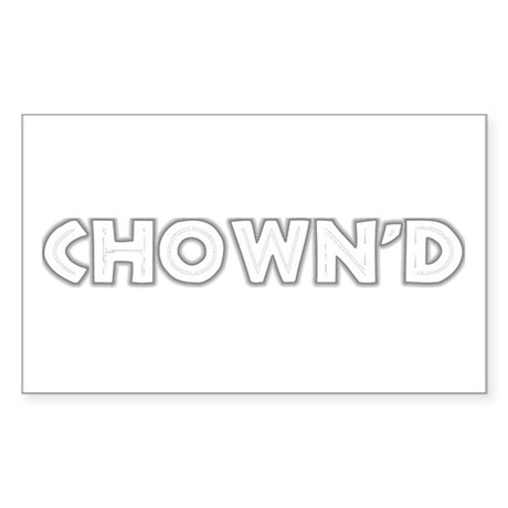 CHOWN'D Rectangle Sticker