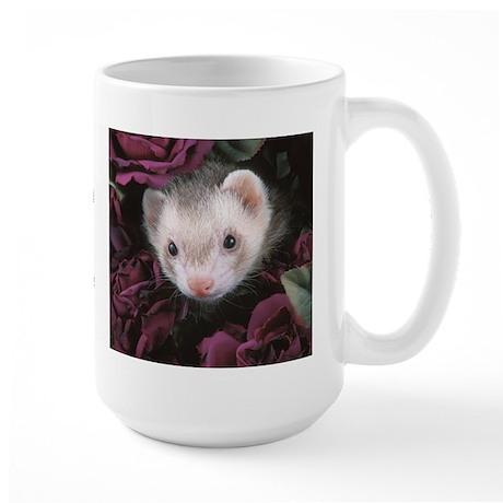 #1 Ferret Mom (flowers) - Large Mug