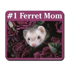 #1 Ferret Mom (flowers) - Mousepad