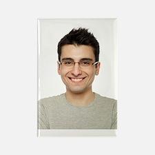 Man smiling Rectangle Magnet