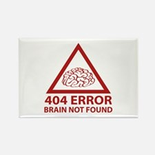 404 Error Brain Not Found Rectangle Magnet (10 pac