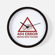 404 Error Brain Not Found Wall Clock