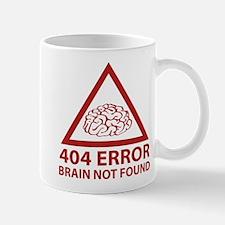 404 Error Brain Not Found Mug
