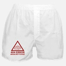 404 Error Brain Not Found Boxer Shorts