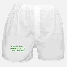 404 Error : Memory File Not Found Boxer Shorts