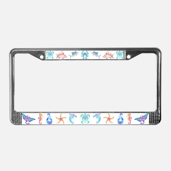 Cute Dolphin License Plate Frame