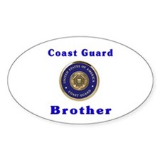 coast guard brother Oval Decal