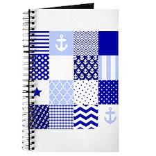 Blue Nautical Squares Journal