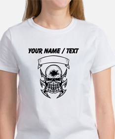 Custom Hole In Head Skull T-Shirt