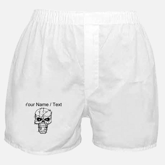 Custom Barbed Wire Skull Boxer Shorts