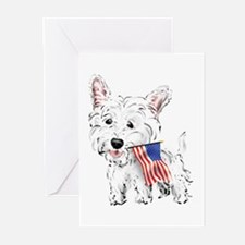 4th of July Westie Greeting Cards (Pk of 10)