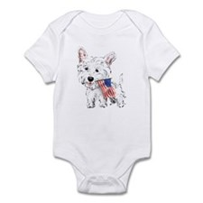 4th of July Westie Infant Bodysuit
