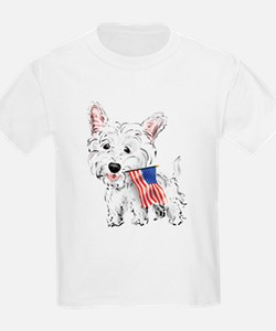 4th of July Westie T-Shirt