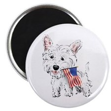 4th of July Westie Magnet