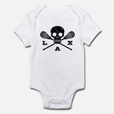 Lacrosse Lax Skull Infant Bodysuit