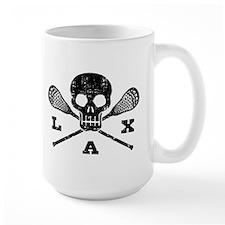 Lacrosse Lax Skull Mug