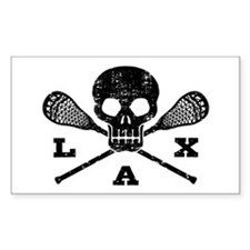 Lacrosse Lax Skull Decal