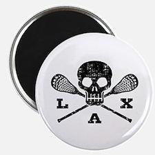 Lacrosse Lax Skull Magnet