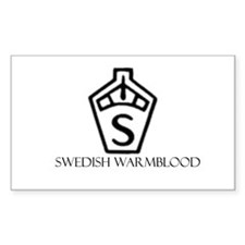 Swedish warmblood Rectangle Decal