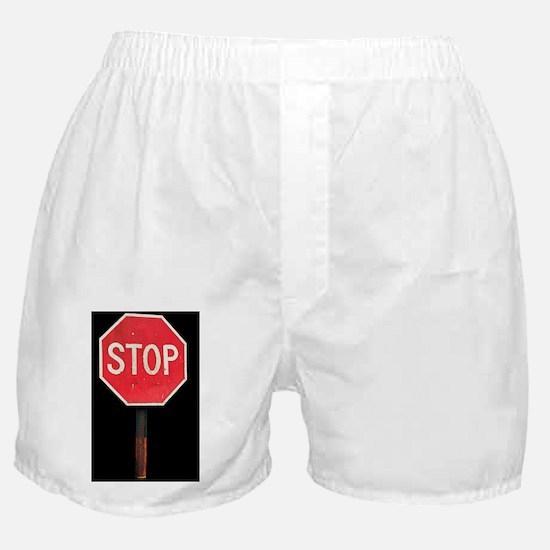 Stop sign Boxer Shorts
