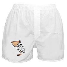 Cute Cartoon Pelican Boxer Shorts