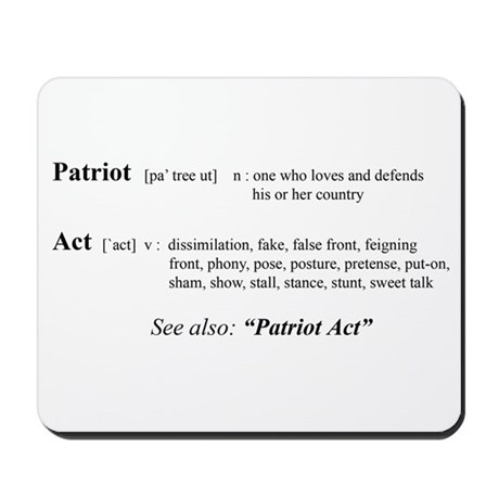 Patriot Act Defined Mousepad