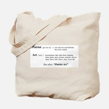 Patriot Act Defined Tote Bag