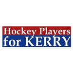 Hockey Players for Kerry (bumper sticker)