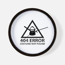404 Error : Costume Not Found Wall Clock