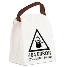 404 Error : Costume Not Found Canvas Lunch Bag