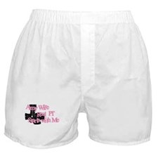 Cute Real army girlfriend Boxer Shorts