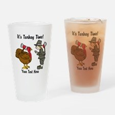 Funny Thanksgiving Drinking Glass