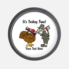 Funny Thanksgiving Wall Clock
