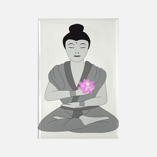 Buddha Style Rectangle Magnet