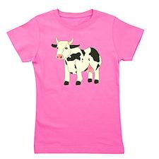 Black & Cream Spotty Cow Girl's Tee