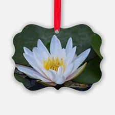 White Lotus Flower Ornament