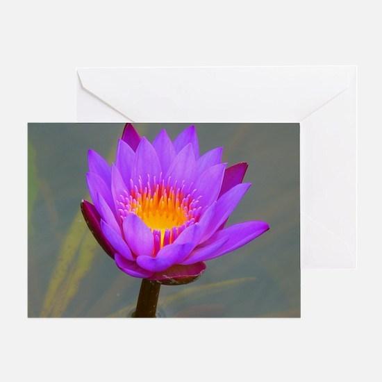 Purple Lotus Flower Greeting Card