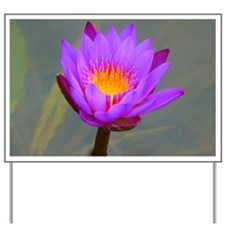 Purple Lotus Flower Yard Sign