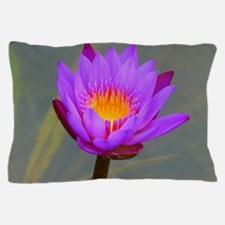 Purple Lotus Flower Pillow Case