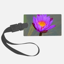 Purple Lotus Flower Luggage Tag
