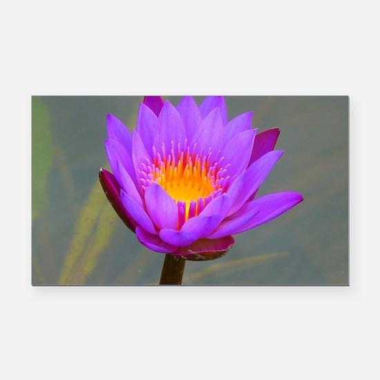 Purple Lotus Flower Rectangle Car Magnet