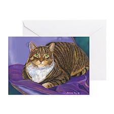 Fat Cat Tabby Cat Greeting Cards (Pk of 10)