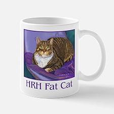 Fat Cat Tabby kitty cat Mug with portrait art